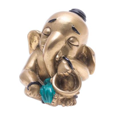 Artisan Crafted Brass Music Sculpture from Thailand