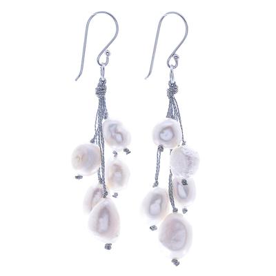 Handmade Cultured Freshwater Pearl Dangle Earrings