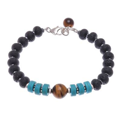 Hand Crafted Hematite and Tiger