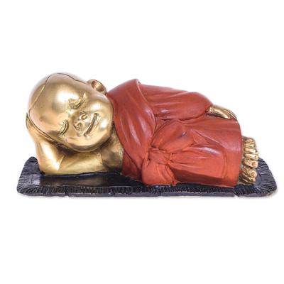 Hand Made Brass Monk Sculpture
