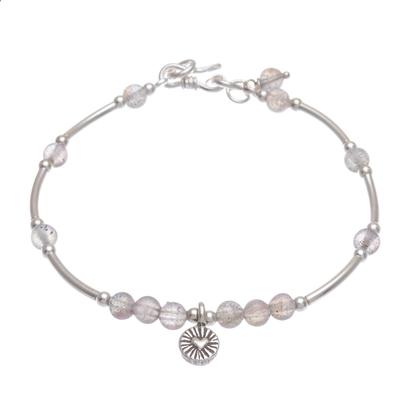 Labradorite and Sterling Silver Charm Bracelet