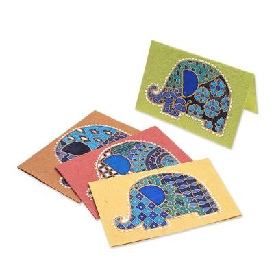 Handmade Cotton and Paper Greeting Cards