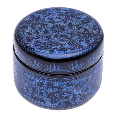 Blue Lacquerware Mango Wood Box