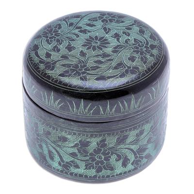 Green Lacquerware Mango Wood Box