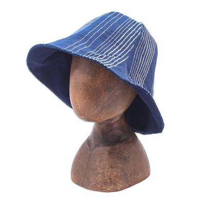 Striped Cotton Bucket Hat