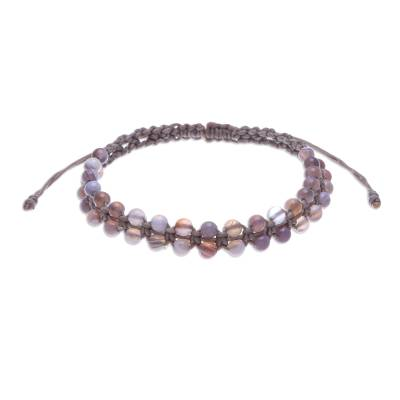 Handcrafted Macrame Agate Beaded Bracelet