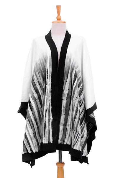 Linen Batik Kimono Jacket from Thailand