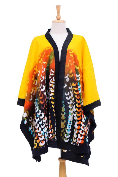 Hand Crafted Linen Batik Kimono Jacket