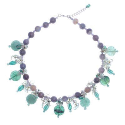 Thai Agate and Quartz Beaded Necklace