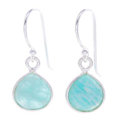 Amazonite and Sterling Silver Dangle Earrings