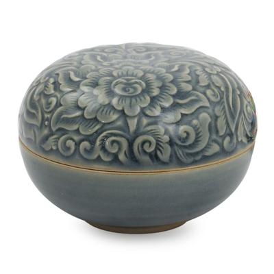 Celadon Ceramic Decorative Box
