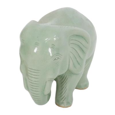 Handcrafted Celadon Ceramic Sculpture