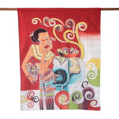 Handcrafted Thai Batik Cotton Wall Hanging