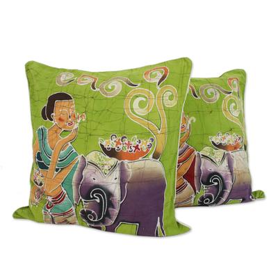 Fair Trade Batik Cotton Cushion Covers (Pair)