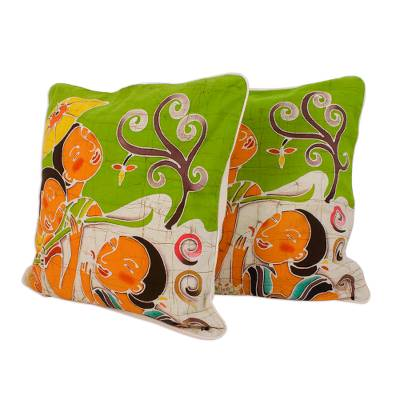 Artisan Crafted Cotton Cushion Covers (Pair)