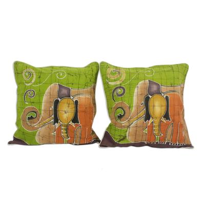 Batik Cotton Cushion Covers (Pair)