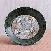 Eggshell mosaic centerpiece, 'Tunnel End' - Eggshell mosaic centerpiece
