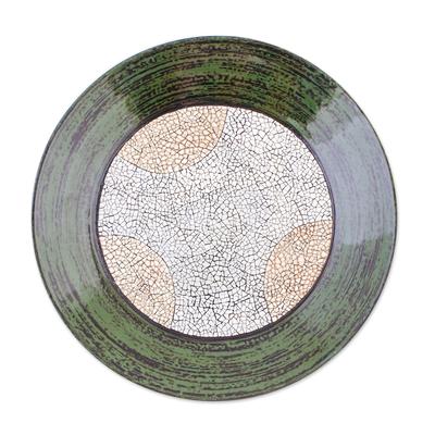 Eggshell mosaic centerpiece