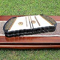 Wood khim dulcimer, 'Black and White' - Wood khim dulcimer
