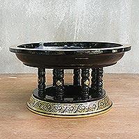 Lacquered wood offering centerpiece, 'Khantok'