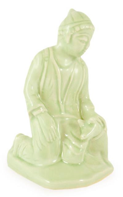Hand Made Celadon Ceramic Sculpture