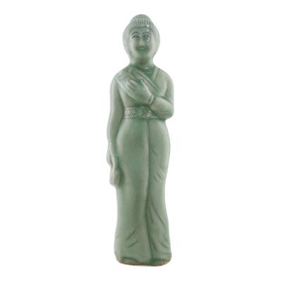 Celadon ceramic statuette