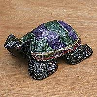Lacquered wood statuette, 'Longevity Turtle'