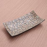 Eggshell mosaic tray,