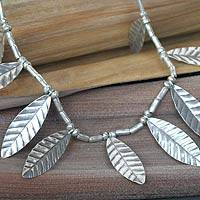 Silver waterfall necklace,