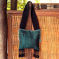 Cotton shoulder bag, 'Spring Dreams' - Cotton shoulder bag
