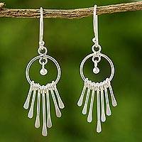 Sterling silver chandelier earrings, 'Catch the King's Eye'