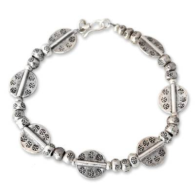 Handcrafted Hill Tribe Sterling Silver Bracelet