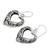 Sterling silver heart earrings, 'Moonlit Hearts' - Hand Made Sterling Silver Dangle Earrings (image 2b) thumbail