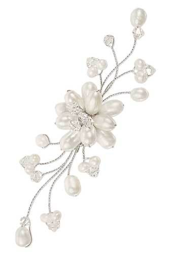 Floral Pearl Brooch Pin