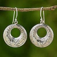 Sterling silver dangle earrings, 'Summer Breeze' - Sterling silver dangle earrings