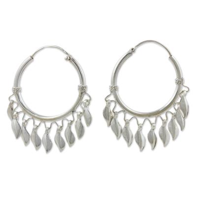 Handcrafted Sterling Silver Hoop Earrings