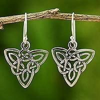 Silver dangle earrings, 'Star Legends'
