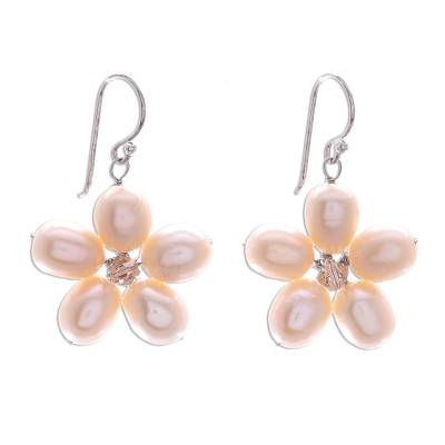 Unique Pearl Flower Earrings