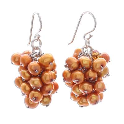 Handmade Pearl Earrings from Thailand