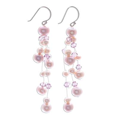 Pearl waterfall earrings
