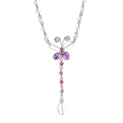 Fair Trade Beaded Quartz Necklace