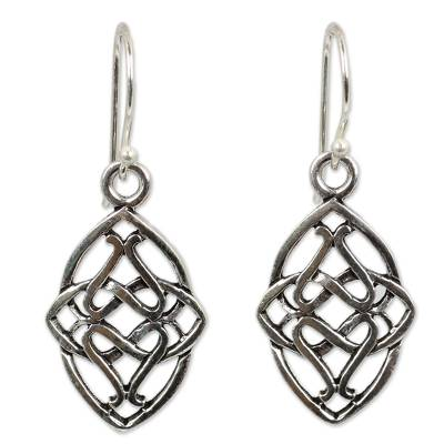 Hand Crafted Sterling Silver Dangle Earrings from Thailand