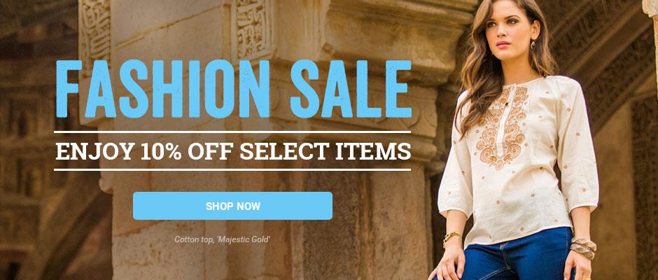 Fashion Sale! Enjoy 10% off select items. Shop now!