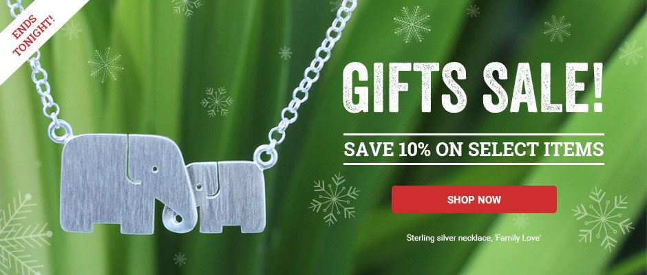 Gifts Sale! Save 10% on select items.