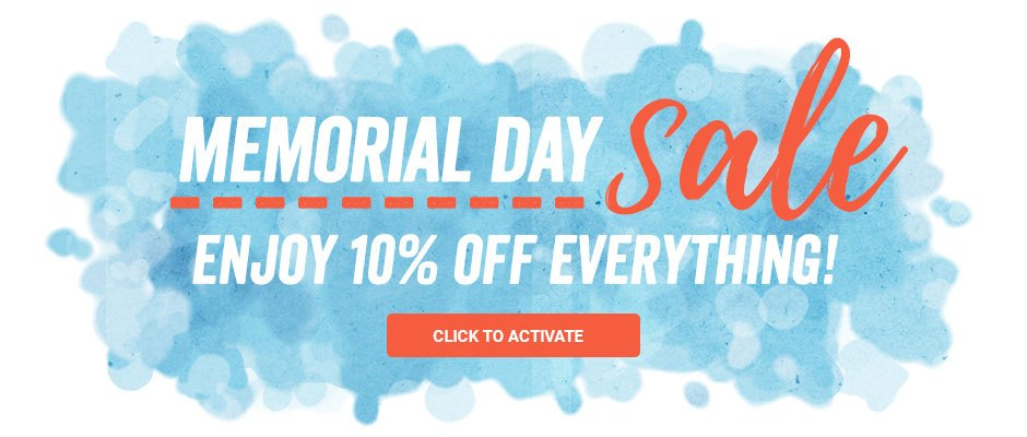 Memorial Day Sale - 10% off everything! Click to activate