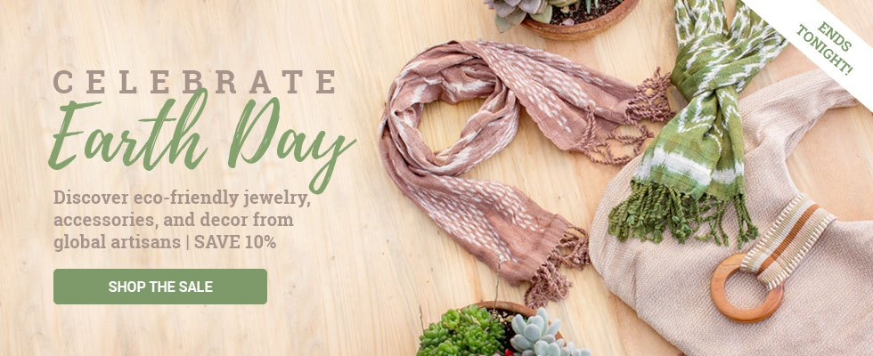 Celebrate Earth Day - Discover eco-friendly jewelry, accessories, and decor from global artisans   SAVE 10%