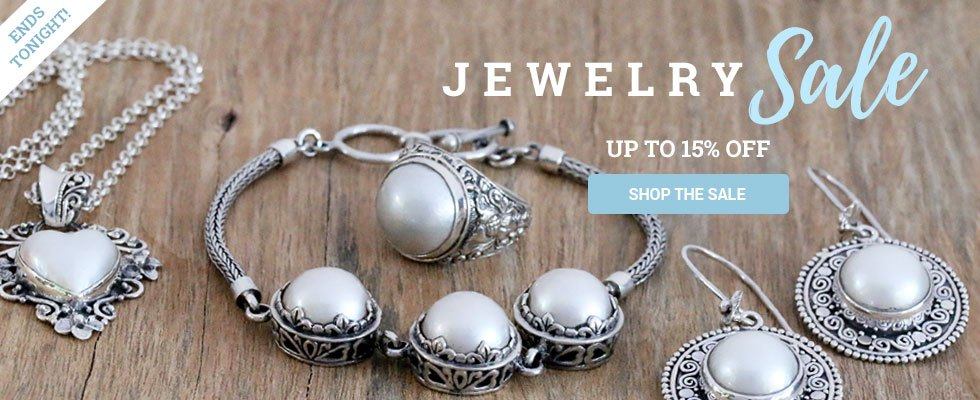 Jewelry Sale - up to 15% off! SHOP NOW