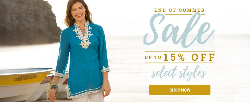 End of Summer Sale! Up to 15% off select styles. SHOP NOW.