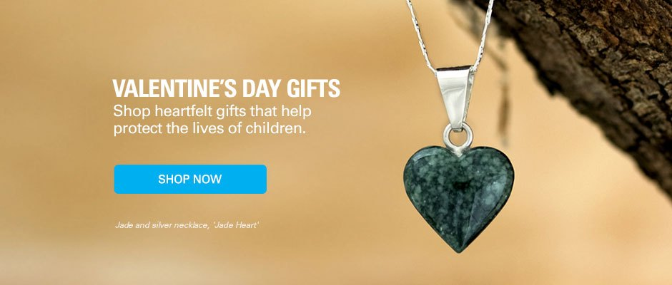Shop heartfelt gifts that help protect the lives of children.
